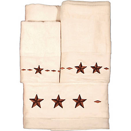 HiEnd Accents Embroidered Star Towel Set
