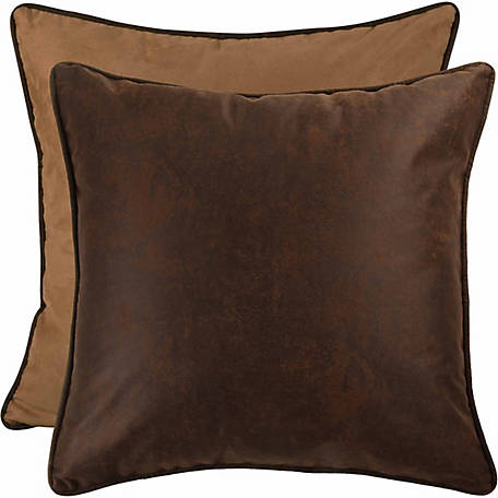 HiEnd Accents Euro Sham (1 Piece), 27 in. x 27 in., Chocolate and Dark Tan