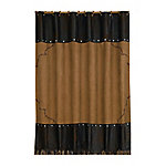 HiEnd Accents Embroidered Barbwire Shower Curtain, 72 in. x 72 in.