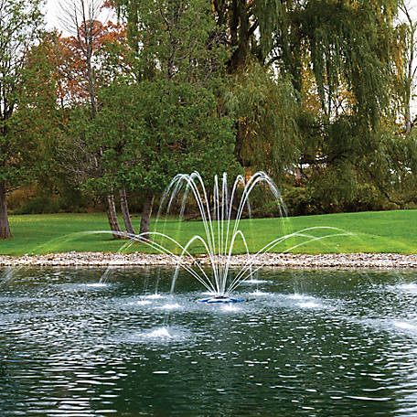Airmax EcoSeries Floating Fountain, Double Arch Premium Spray Pattern