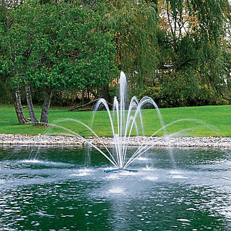 Airmax Ecoseries Floating Fountain Double Arch And Geyser Premium Spray Pattern