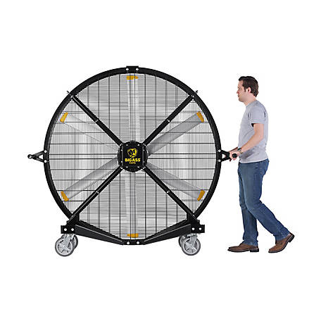 Big Ass Fans Black Jack 6.5 ft. Indoor/Outdoor Variable Speed Mobile Fan, F-BJ1-0601S34
