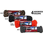 Mibro Reflective Nylon Paracord 550, 5/32 in. x 50 ft. Hank, Assorted Outdoor Colors