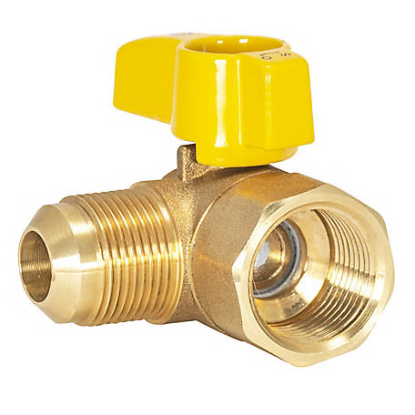 Eastman Angle Flare Gas Ball Valve, 3/4 in. IPS, 5/8 in. OD Flare