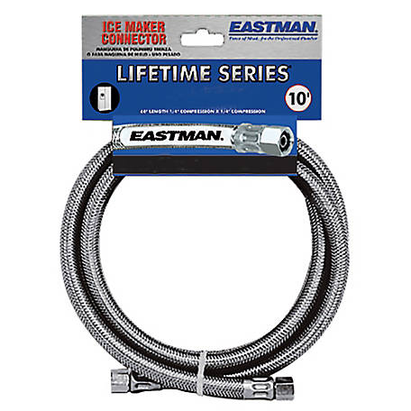 Eastman 10 ft. Stainless Steel Ice Maker Connector
