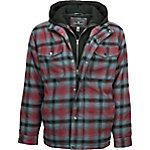 Free Country Men's Flannel Plaid Multi Ripstop Hoodie