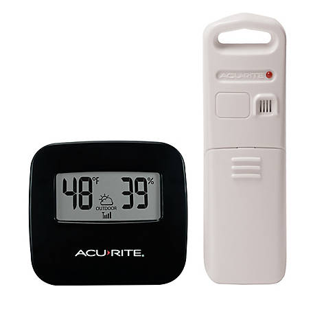 AcuRite Wireless Thermometer with Indoor/Outdoor Temperature and Humidity Sensor