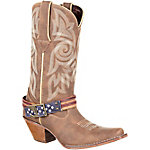 Durango Women's 12 in. Crush American Flag Strap Cowboy Boot