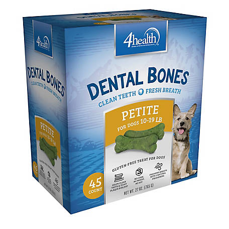 4health Dental Bones for Dogs, 27 oz., Large, for dogs 40 lbs +
