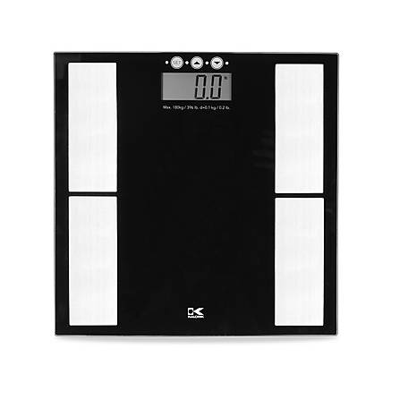 Kalorik Black Electronic Scale with Body Fat Analyzer, EBS 40398 BK