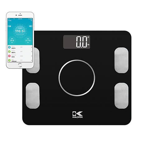 Kalorik Bluetooth Electronic Body Fat Scale with Body Analysis, EBS 42573 BK