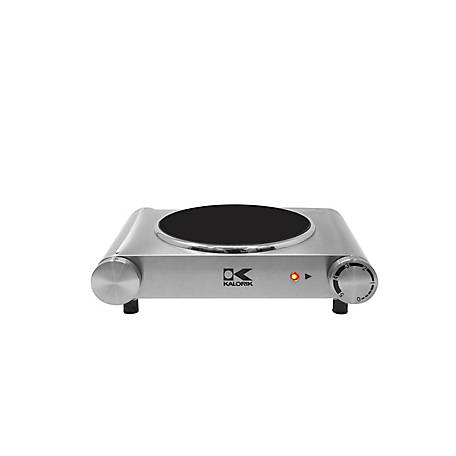 Kalorik Stainless Steel Infrared Single Ceramic Cooking Plate, EKP 43255 SS