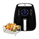 Kalorik Black Digital Airfryer with Dual Layer Rack, FT 42174 BK