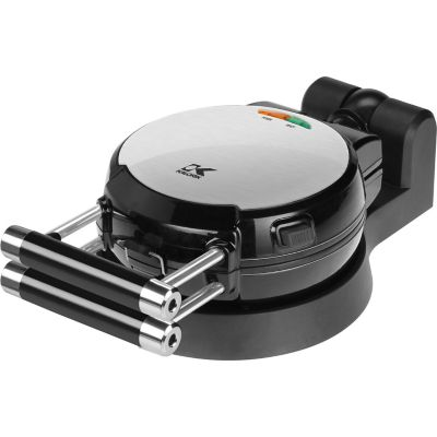 Kalorik Black and Stainless Steel Belgian Waffle Maker with Detachable Plates