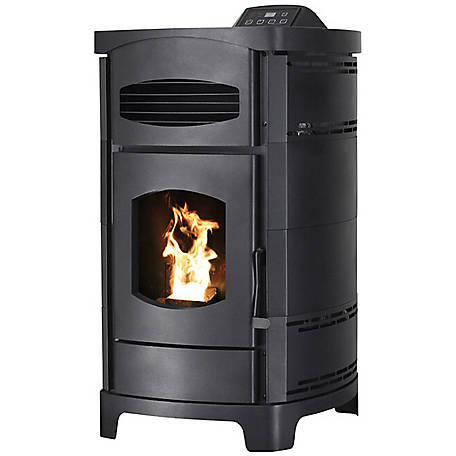 Ashley Pellet Stove with Polished Black Curved Sides, 2,200 sq. ft.
