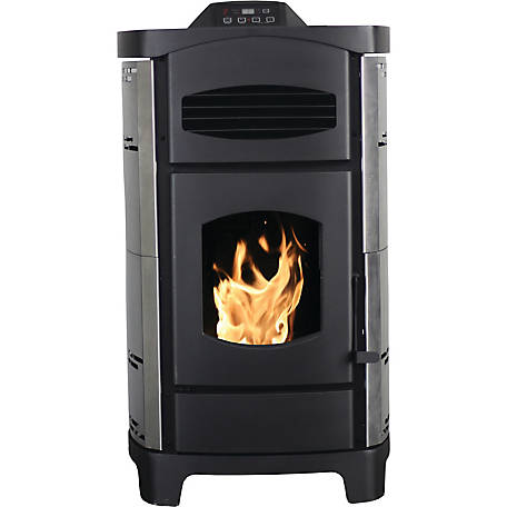 Ashley 2,200 sq. ft. EPA Certified Pellet Stove with Brushed Stainless Steel Curved Sides, AP5780SS