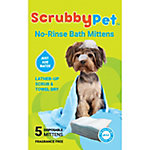ScrubbyPet No Rinse Bath Mittens, Pack of 5