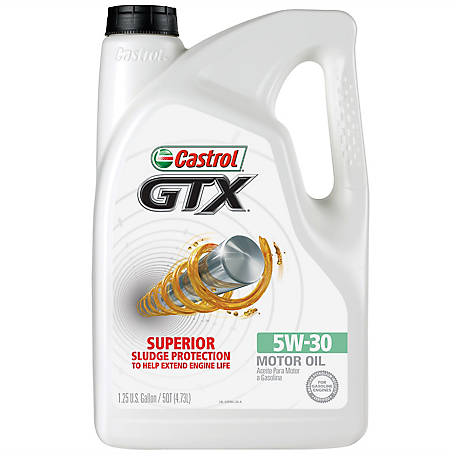 Castrol GTX ULTRACLEAN 5W-30 Motor Oil, 5 qt.