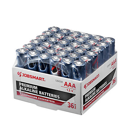 JobSmart AAA Alkaline Battery, Pack of 36, 7171-30S