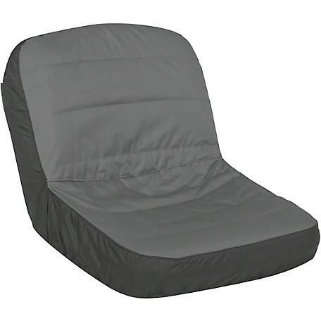 Classic Accessories Deluxe Tractor Seat Cover, Large, Black/Grey