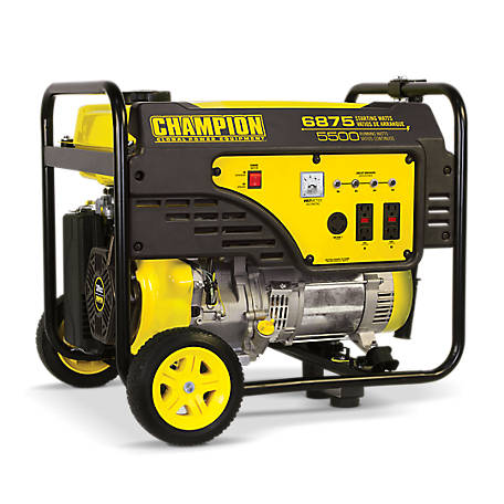 Champion Power Equipment 5500-Watt Portable Generator with Wheel Kit, 100452