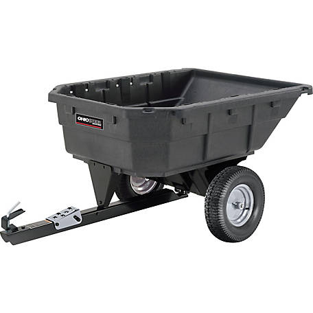 Ohio Steel 15 cu. ft. Poly Swivel Lawn Tractor Dump Cart