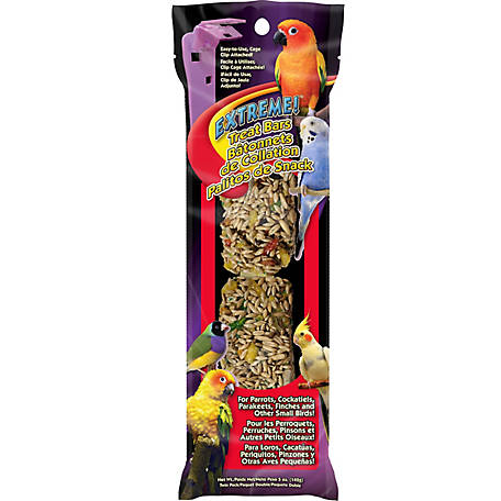 Brown's Extreme! Treat Bars Twin Pack for Parakeets, Canaries, Finches, Cockatiels and Lovebirds, 5 oz. (2-pack)