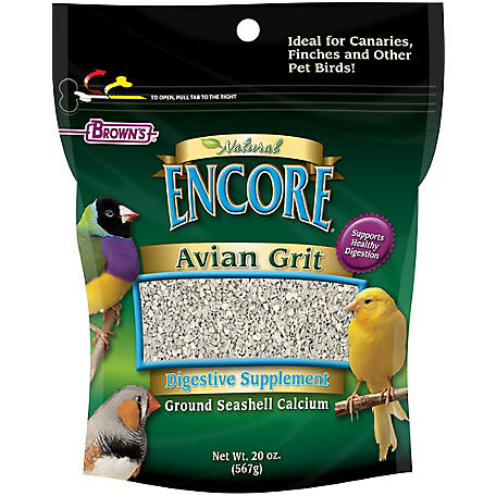 Brown's Avian Grit Plus for Canaries & Finches, 20 oz. Package