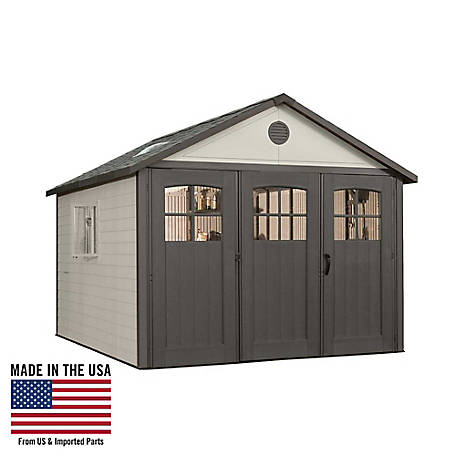 Lifetime 11 ft. x 11 ft. Outdoor Storage Shed with Tri-Fold Doors