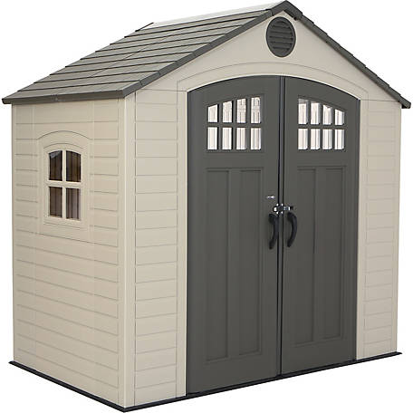 Lifetime 8 Ft X 5 Ft Outdoor Storage Shed With Window At