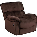 Contemporary Sharpei Microfiber Power Recliner with Push Button