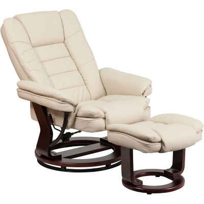 Flash Furniture Contemporary Vintage, Flash Furniture Reclining Office Chair With Ottoman