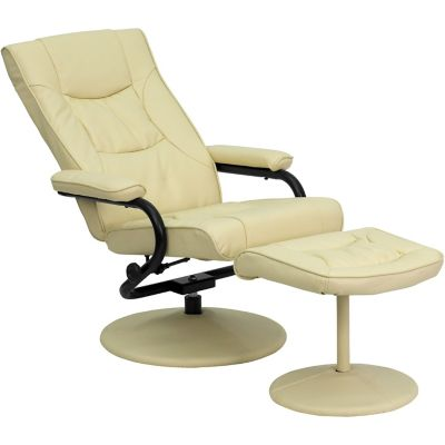 Flash Furniture Contemporary Leather, Flash Furniture Reclining Office Chair With Ottoman