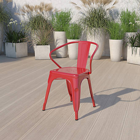 Metal Indoor/Outdoor Chair with Arms