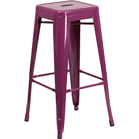 30 in. High Backless Indoor/Outdoor Barstool