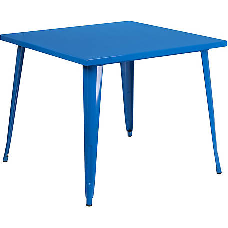 35. 5 in. Square Metal Indoor/Outdoor Table