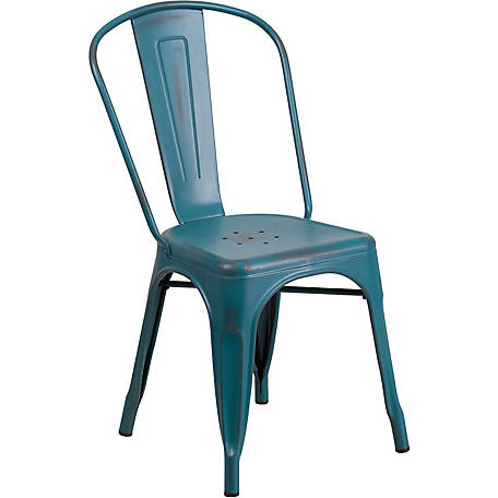 Metal Indoor/Outdoor Stackable Chair