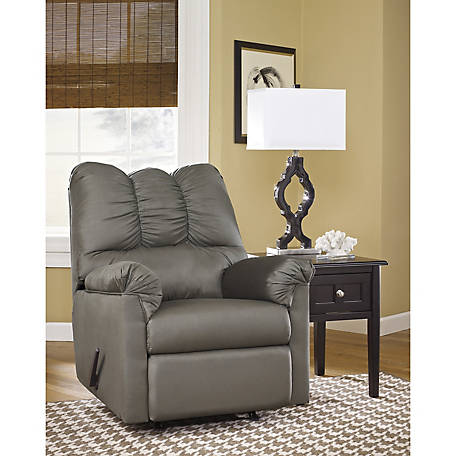 Signature Design by Ashley Darcy Rocker Recliner in Stone Microfiber