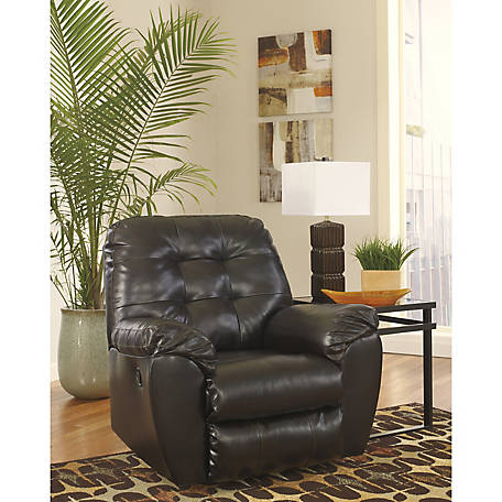 Signature Design by Ashley Alliston Rocker Recliner in Salsa DuraBlend