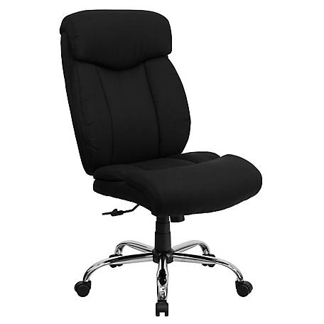 HERCULES Series Big & Tall 400 lb. Rated Black Fabric Executive Swivel Chair with Chrome Base