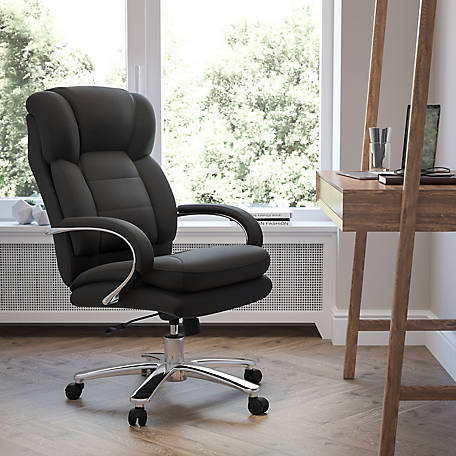 HERCULES Series 24/7 Intensive Use Big & Tall 500 lb. Rated Fabric Executive Swivel Chair with Loop Arms