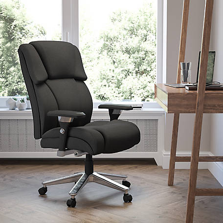 HERCULES Series 24/7 Intensive Use Big & Tall 400 lb. Rated Fabric Executive Swivel Chair with Lumbar Knob