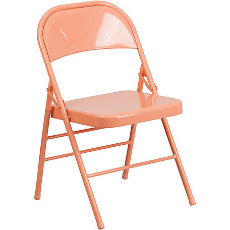 HERCULES COLORBURST Series Metal Folding Chair