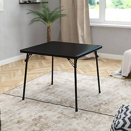 Black Folding Card Table