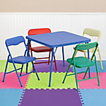 Kid's Colorful 5-Piece Folding Table and Chair Set