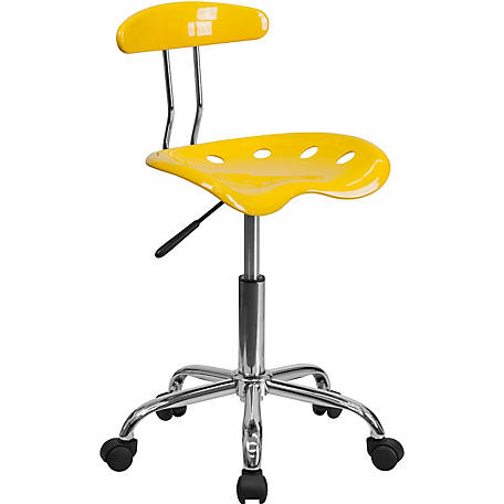 Vibrant Swivel Task Chair with Tractor Seat