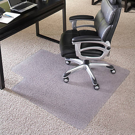 36 in. x 48 in. Big & Tall 400 lb. Capacity Carpet Chair Mat with Lip