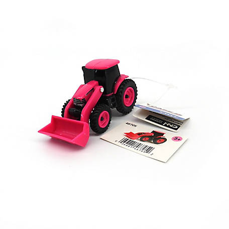 TOMY John Deere Case IH Pink Tractor with Loader, 1:64
