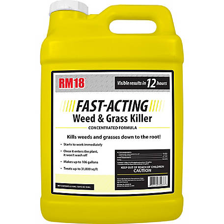 Ragan & Massey RM18 Fast-Acting Grass & Weed Killer with Diquat 2.5 gal., 75437
