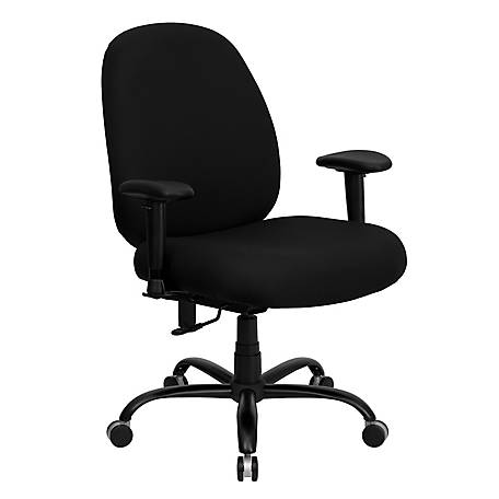 HERCULES Series Big & Tall 400 lb. Rated Black Executive Swivel Chair with Adjustable Arms